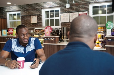 Costa Coffee shop at Hendon Campus