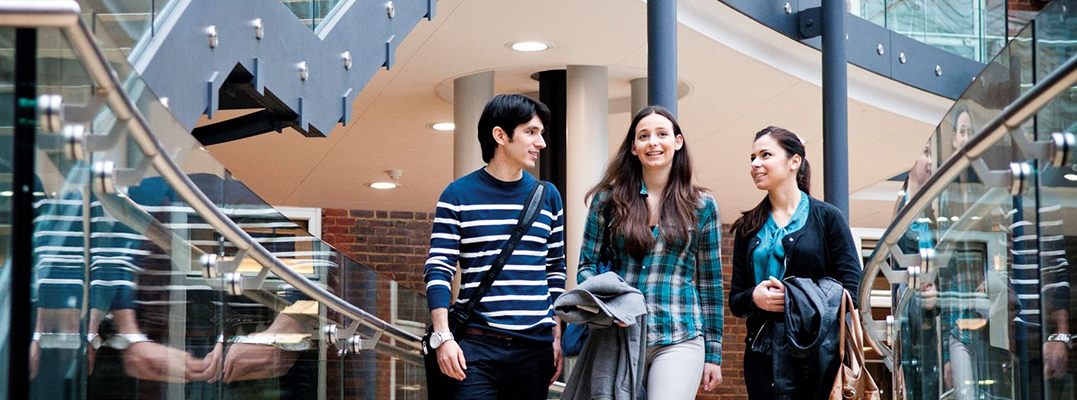 A group of smiling Middlesex University students
