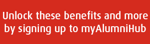 Unlock these benefits by signing up to myAlumniHub
