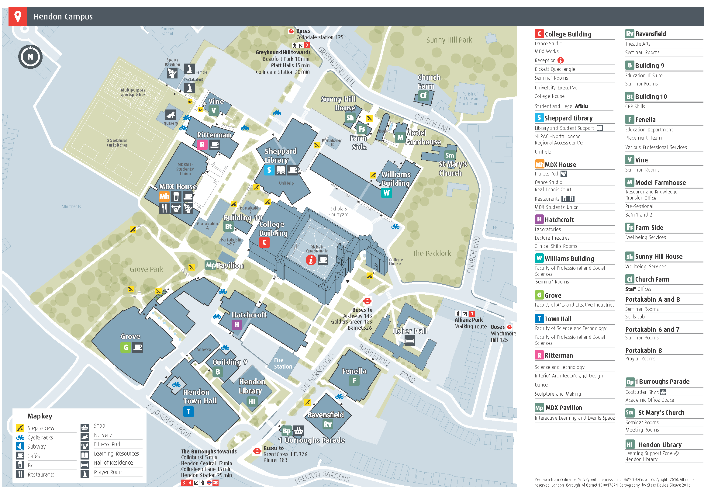 A full campus map